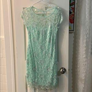 Mint knee length dress